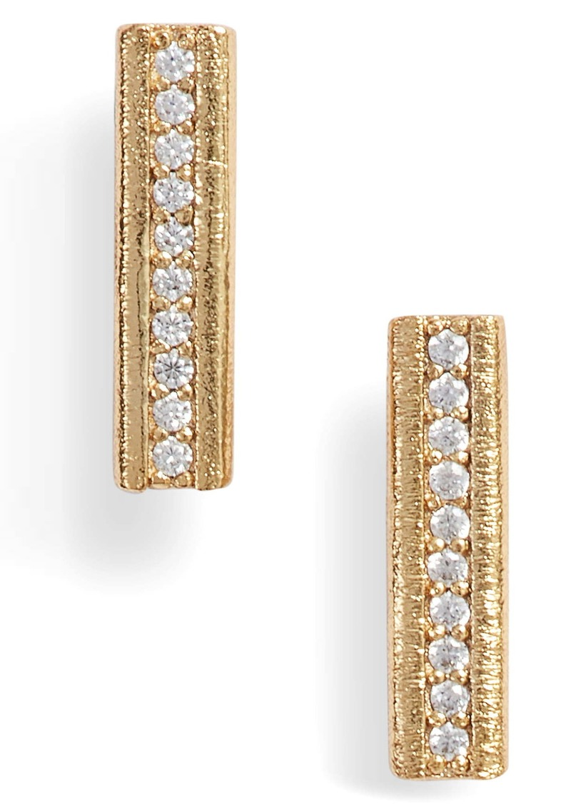 gorjana Nia Cubic Zirconia Bar Stud Earrings