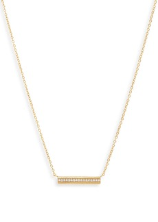 gorjana Nia Shimmer Bar Pendant Necklace
