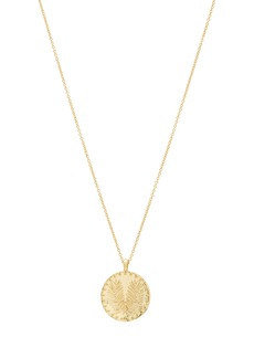 gorjana Palm Coin Pendant Necklace