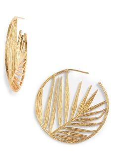 gorjana Palm Profile Hoop Earrings