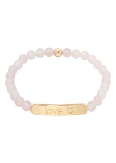 gorjana Power Gemstone Tag Rose Quartz Bracelet