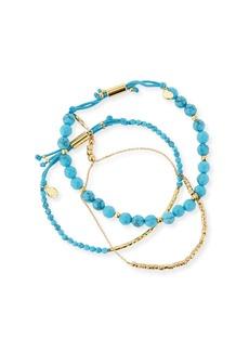 Gorjana Power Gemstones Laguna Turquoise Beaded Bracelets