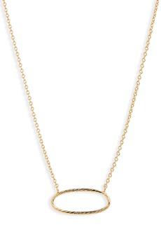 gorjana Presley Oval Pendant Necklace
