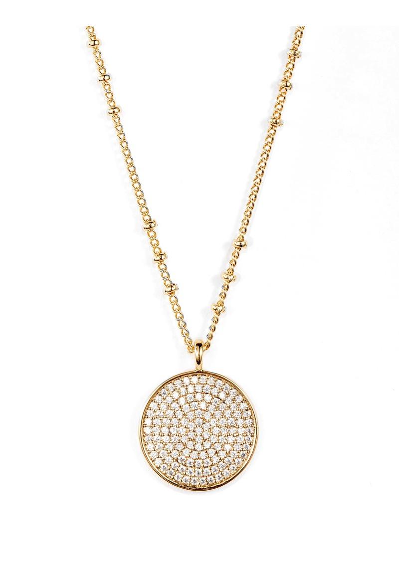gorjana Pristine Cubic Zirconia Disc Pendant Necklace