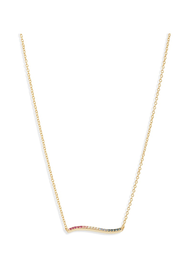 gorjana Rosslyn Wave Pendant Necklace
