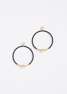Gorjana Sayulita Drop Hoop Earrings