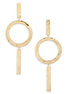 gorjana Shaye Circle Drop Earrings