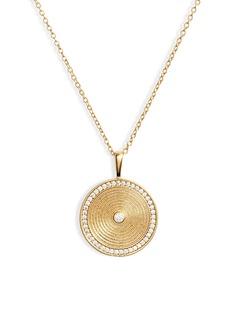 gorjana Shimmer Coin Pendant Necklace