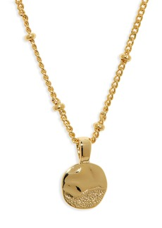 gorjana Shorebreak Coin Pendant Necklace