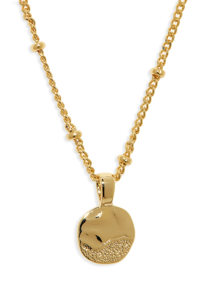 gorjana Shorebreak Coin Pendant Necklace