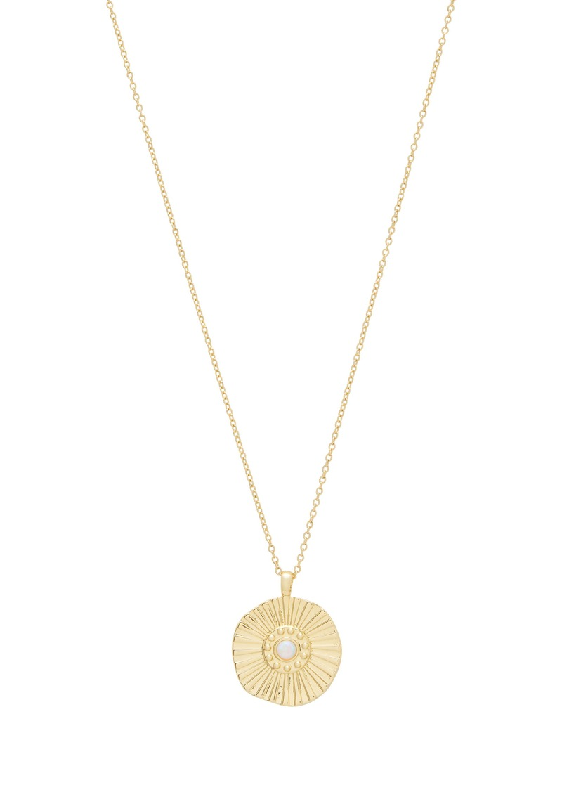 gorjana Sunburst Coin Pendant Necklace