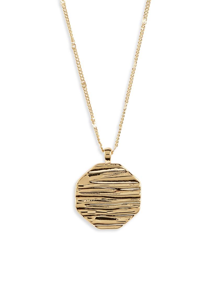 gorjana Sunset Coin Pendant Necklace