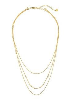 gorjana Triple Layered Chain Necklace w/ Cubic Zirconia