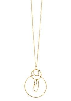 "Gorjana Wilshire Pendant Adjustable Necklace, 34"""