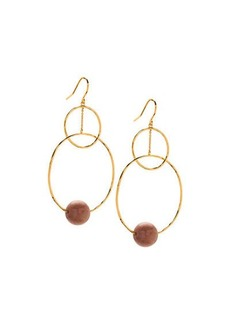 Gorjana Interlocking Hoop Drop Earrings