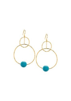 Gorjana Interlocking Hoop Drop Earrings