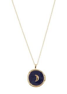 Gorjana Moon Coin Pendant Necklace