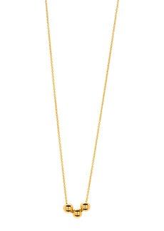 Gorjana Newport Three-Bead Golden Adjustable Necklace
