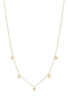 Gorjana Pristine Pave 5-Disc Necklace