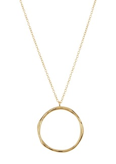 Gorjana Quinn Short Round Pendant Necklace