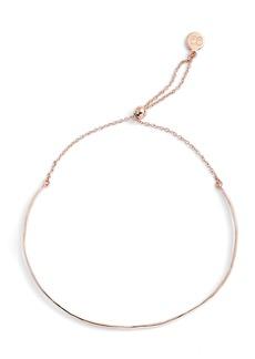 Gorjana Taner 18K Rose Gold Hammered Bar Bracelet