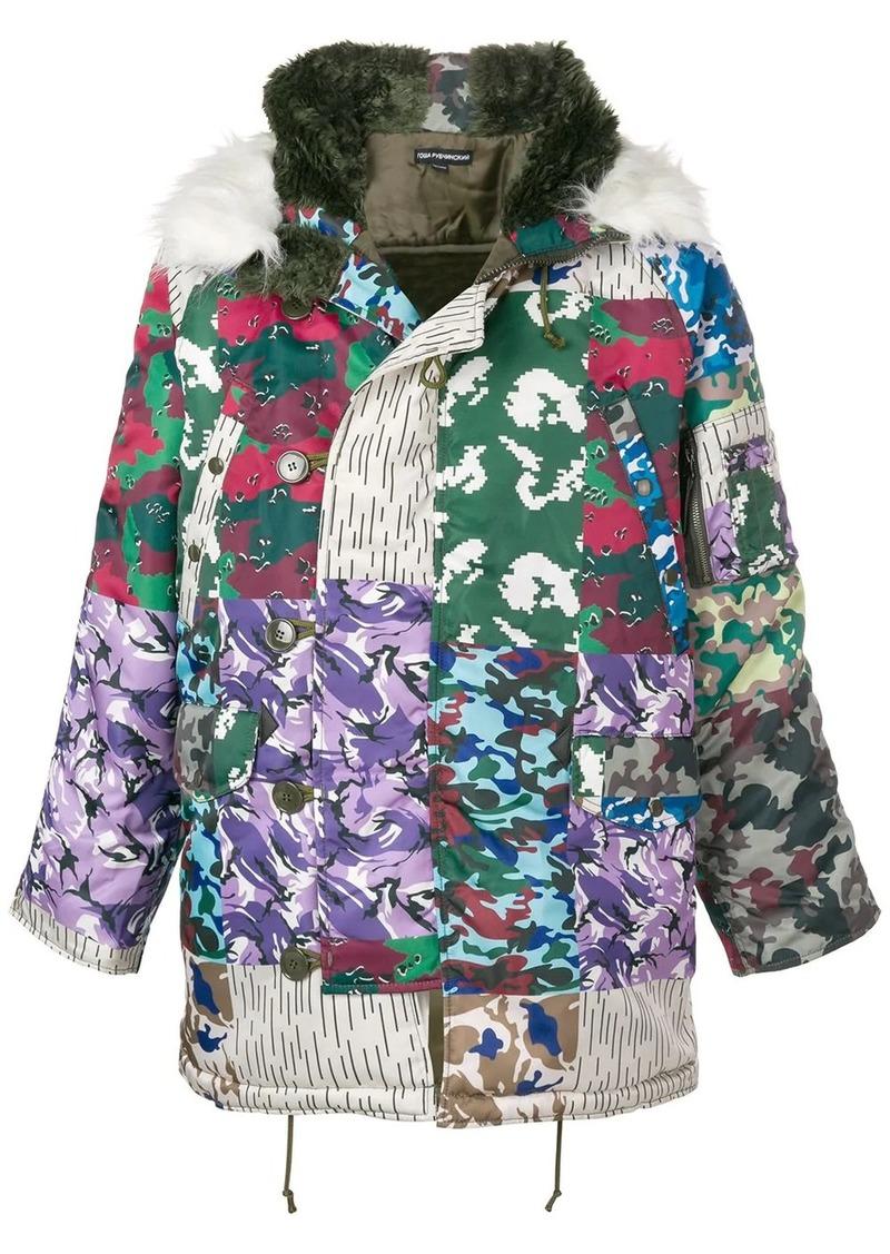 Gosha camouflage padded coat