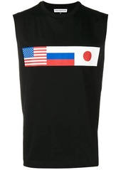 Gosha flag print vest top