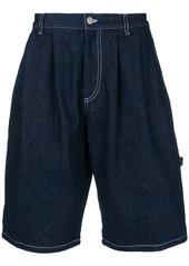 Gosha Rubchinskiy topstitch denim shorts - Blue