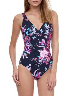 Gottex Cherry Blossom One-Piece Swimsuit