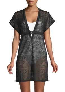 Gottex Crochet V-Neck Tunic