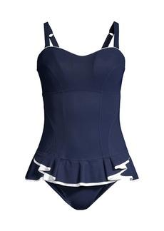Gottex D Cup Ruffle Hem Swim Dress