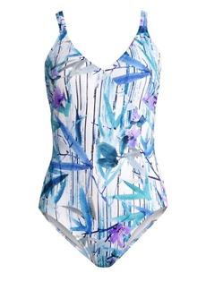 Gottex Exotic Paradise Surplice One-Piece Swimsuit