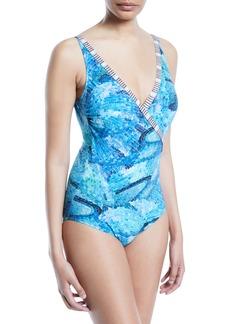 Gottex Felicity Surplice One-Piece Swimsuit