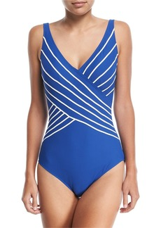 Gottex Embrace Surplice One-Piece Swimsuit