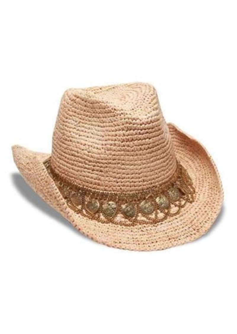 Gottex Lira Cowboy Hat w/ Draped Coin-Chain Band