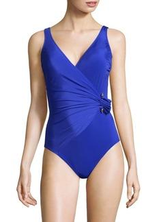 Gottex Grace Kelly Surplice Swimsuit