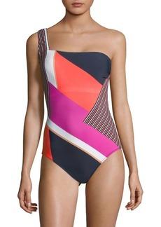 Gottex Maritime One Shoulder Swimsuit