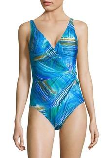 Gottex Tourmaline One-Piece Surplice Swimsuit