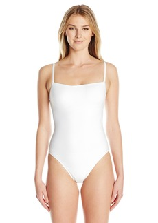 Gottex Women's Solid Straight Neck One Piece Swimsuit