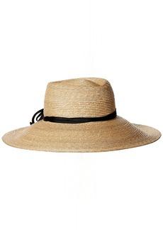 Gottex Women's Capri Fine Milan Adjustable Straw Hat with Ribbon Trim with Upf 50+