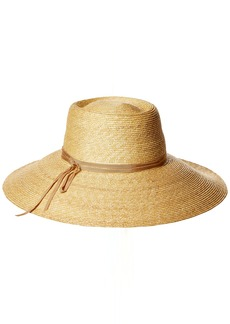 Gottex Women's Capri Fine Milan Adjustable Straw Hat with Ribbon Trim with Upf 50+