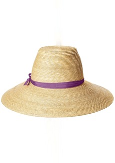 Gottex Women's Cote D'Azur Fine Milan Straw Sun Hat Rated UPF 50+ for Max Sun Protection  Adjustable Head Size