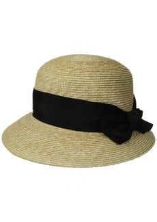 Gottex Women's Darby Fine Milan Straw Packable Sun Hat Rated UPF 50+ for Max Sun Protection