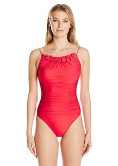Gottex Women's Embellished Round Neck One Piece Swimsuit