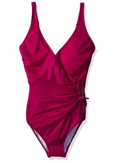 Gottex Women's Wrap Surplice One Piece Swimsuit