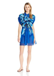 Gottex Women's Printed Shirtdress Swimsuit Cover up