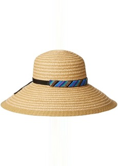 Gottex Women's Gottex Women's Marrakesh Raffia Packable Sun Hat Rated UPF 50+ for Maximum Sun Protection