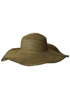 Gottex Women's Morgana Metallic Straw Packable Sun Hat Rated UPF 50+ for Max Sun Protection