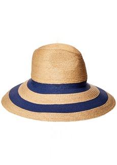 Gottex Women's Newport Raffia/Toyo Fedora Sun Hat Rated UPF 50+ for Max Sun Protection  Adjustable Head Size