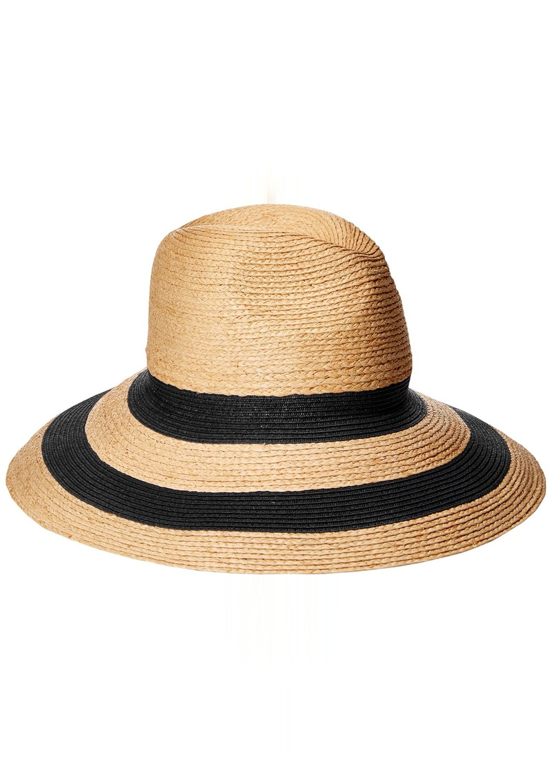 04a732eb870 Gottex Women s Newport Raffia Toyo Fedora Sun Hat Rated UPF 50+ for Max Sun